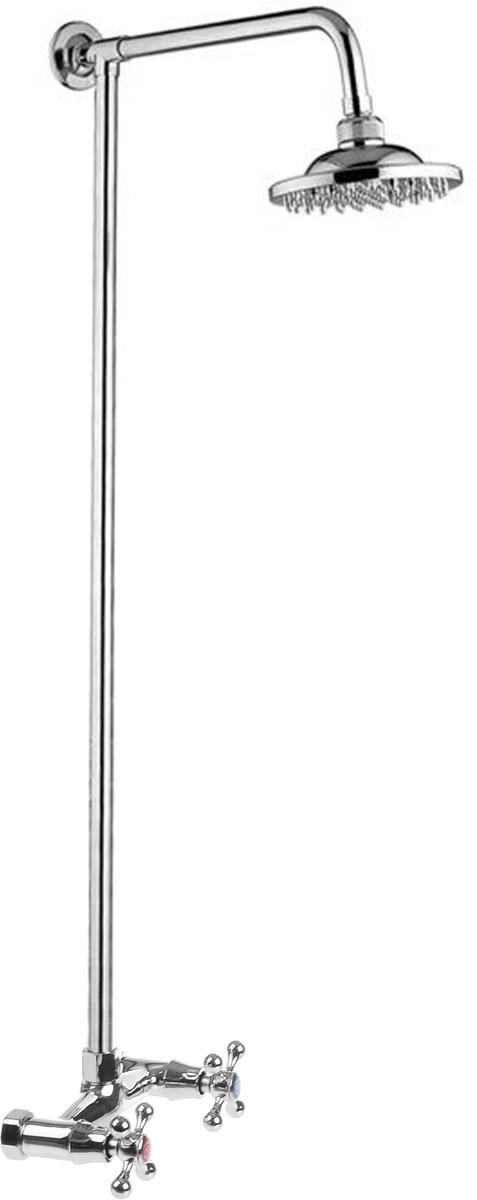 Смеситель для душа РМС, с верхней лейкой. SL80-003-1SL80-003-1Смеситель для душа РМС сочетает в себе отличные эксплуатационные характеристики и оригинальный дизайн. Латунные кран- буксы обеспечивают точную регулировку температуры воды за счет максимального поворота на 180°. Хромоникелевое покрытие придает изделию яркий металлический блеск и эстетичный внешний вид. Устойчив к кислотным и щелочным чистящим средствам. Смеситель РМС эргономичен, прост в монтаже и удобен в использовании. Длина штанги: 86 см.