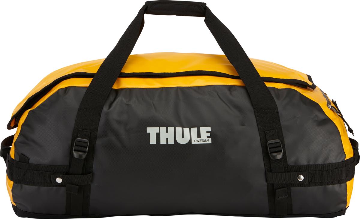Туристическая сумка-баул Thule Chasm L, цвет: оранжевый, 90л203100Thule Chasm Large - Эти жесткие, устойчивые к неблагоприятным погодным условиям сумки с широко раскрывающимся основным отделением и съемными ремнями — ваши надежные спутники в любой поездке. Широко раскрывающееся отделение делает загрузку оборудования в сумку очень удобным. Боковые замки делают доступ к основному отделению удобным с любого угла Ремни складываются вдоль боковых сторон сумки. Ремни быстро превращают рюкзак в сумку. Прочная водонепроницаемая брезентовая ткань для удобной укладки вещей, которая легко складывается для хранения. Внутренние сетчатые карманы сохранят ваши вещи в порядке. Внешние фиксирующие ремни предотвращают содержимое сумки от падения на дно, когда она используется как рюкзак. Уплотненная нижняя часть сумки обеспечивает мягкое соприкосновение с землей. Блокировка застежки-молнии для защиты от воров (замок продается отдельно). Внешний сетчатый карман для небольших предметов.