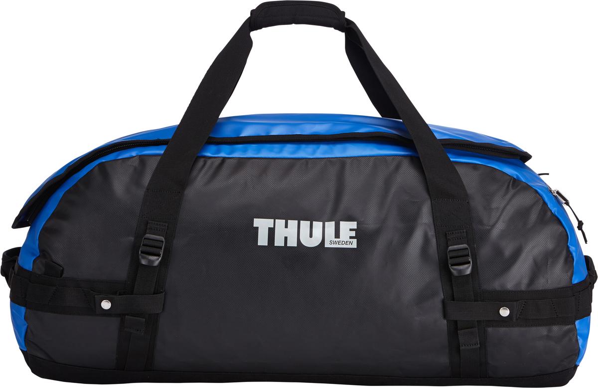 Туристическая сумка-баул Thule Chasm L, цвет: синий, 90л202900Thule Chasm Large - Эти жесткие, устойчивые к неблагоприятным погодным условиям сумки с широко раскрывающимся основным отделением и съемными ремнями — ваши надежные спутники в любой поездке. Широко раскрывающееся отделение делает загрузку оборудования в сумку очень удобным. Боковые замки делают доступ к основному отделению удобным с любого угла Ремни складываются вдоль боковых сторон сумки. Ремни быстро превращают рюкзак в сумку. Прочная водонепроницаемая брезентовая ткань для удобной укладки вещей, которая легко складывается для хранения. Внутренние сетчатые карманы сохранят ваши вещи в порядке. Внешние фиксирующие ремни предотвращают содержимое сумки от падения на дно, когда она используется как рюкзак. Уплотненная нижняя часть сумки обеспечивает мягкое соприкосновение с землей. Блокировка застежки-молнии для защиты от воров (замок продается отдельно). Внешний сетчатый карман для небольших предметов.
