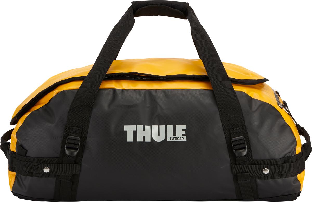 Туристическая сумка-баул Thule Chasm M, цвет: оранжевый, 70л202500Thule Chasm Medium - Эти жесткие, устойчивые к неблагоприятным погодным условиям сумки с широко раскрывающимся основным отделением и съемными ремнями — ваши надежные спутники в любой поездке. Широко раскрывающееся отделение делает загрузку оборудования в сумку очень удобным. Боковые замки делают доступ к основному отделению удобным с любого угла Ремни складываются вдоль боковых сторон сумки. Ремни быстро превращают рюкзак в сумку. Прочная водонепроницаемая брезентовая ткань для удобной укладки вещей, которая легко складывается для хранения. Внутренние сетчатые карманы сохранят ваши вещи в порядке. Внешние фиксирующие ремни предотвращают содержимое сумки от падения на дно, когда она используется как рюкзак. Уплотненная нижняя часть сумки обеспечивает мягкое соприкосновение с землей. Блокировка застежки-молнии для защиты от воров (замок продается отдельно). Внешний сетчатый карман для небольших предметов.