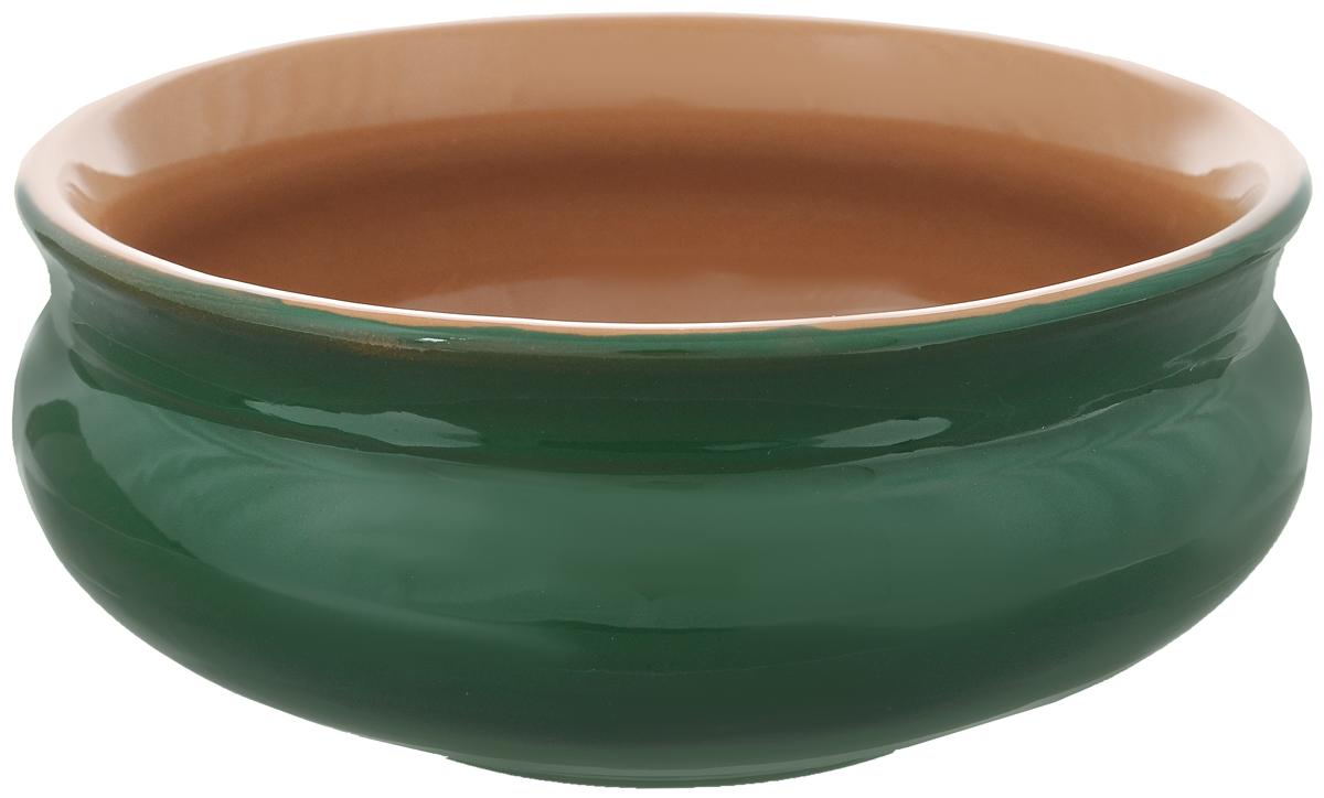 Тарелка глубокая Борисовская керамика Скифская, цвет: зеленый, 800 млРАД14457937_зеленыйГлубокая тарелка Борисовская керамика Скифская выполнена из высококачественной керамики. Изделие сочетает в себе изысканный дизайн с максимальной функциональностью. Она прекрасно впишется в интерьер вашей кухни и станет достойным дополнением к кухонному инвентарю. Тарелка Борисовская керамика Скифская подчеркнет прекрасный вкус хозяйки и станет отличным подарком. Можно использовать в духовке и микроволновой печи. Диаметр тарелки (по верхнему краю): 16 см. Объем: 800 мл.