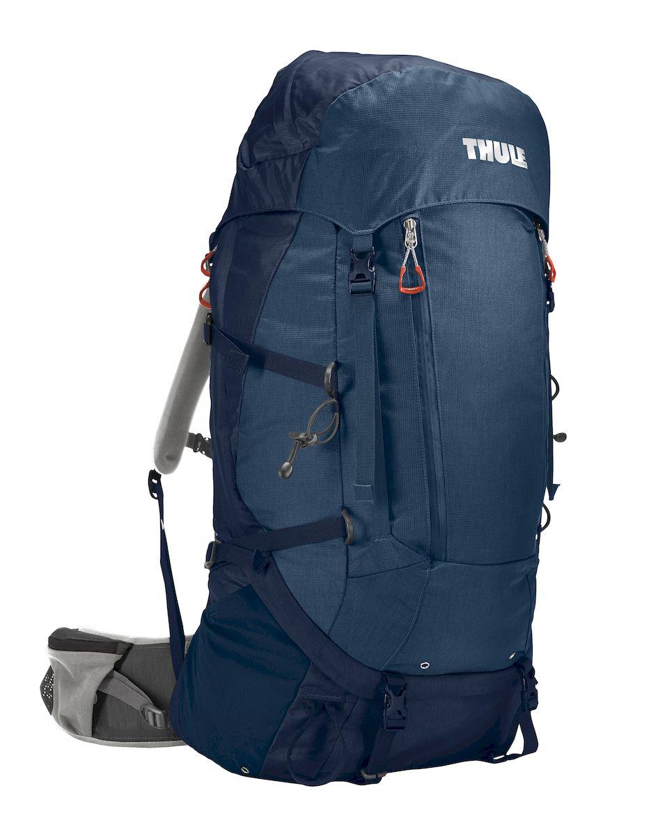 Рюкзак треккинговый мужской Thule Guidepost, цвет: темно-синий, 65л206301Мужской туристический рюкзак Thule Guidepost 65 л - Удобный рюкзак для двухдневных/недельных путешествий Thule Guidepost 65 л отличается настраиваемой системой крепления TransHub, обеспечивающей идеальную посадку, поворачивающимся набедренным ремнем, который позволяет рюкзаку повторять ваши движения, и крышкой, способной трансформироваться в дополнительный рюкзак, который поможет вам покорить любую вершину. Легкая регулировка ремней для торса на 15 см обеспечивает идеальную посадку, а наплечные ремни QuickFit позволяют выбрать из один из трех вариантов длины наплечных ремней Система крепления Transhub с алюминиевой опорой и проволочным каркасом из пружинной стали позволяют перенести вес рюкзака на бедра, обеспечивая более удобную переноску Поворачивающийся набедренный ремень позволяет рюкзаку повторять ваши движения, обеспечивая большую естественность передвижения и улучшенный баланс Съемная крышка трансформируется в просторный рюкзак 24 л, позволяя сочетать два...