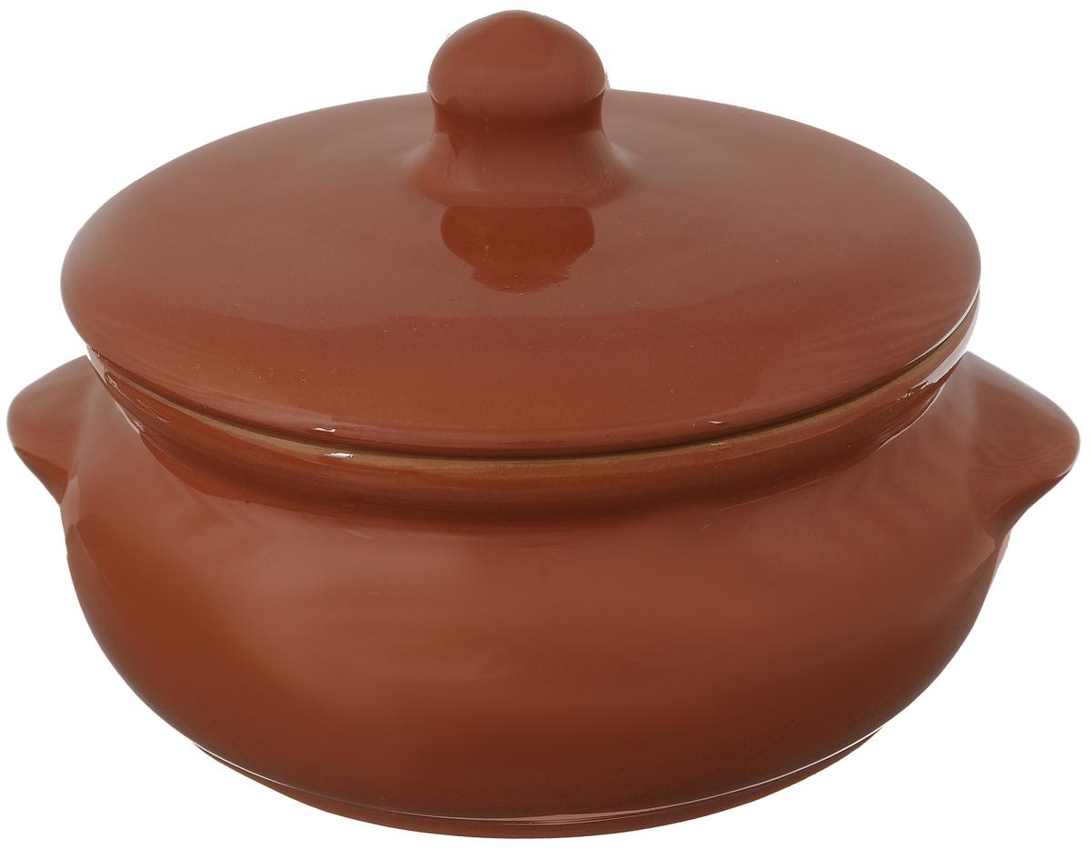 Горшок для запекания Борисовская керамика Радуга, с крышкой, цвет: кирпичный, 700 млРАД00000380_кирпичныйГоршок для запекания Борисовская керамика Радуга с крышкой выполнен из высококачественной керамики. Уникальные свойства красной глины и толстые стенки изделия обеспечивают эффект русской печи при приготовлении блюд. Блюда, приготовленные в керамическом горшке, получаются нежными и сочными. Вы сможете приготовить мясо, сделать томленые овощи и все это без капли масла. Это один из самых здоровых способов готовки. Можно использовать в духовке и микроволновой печи. Диаметр горшка (по верхнему краю): 15 см. Высота стенок: 7 см. Объем: 700 мл.