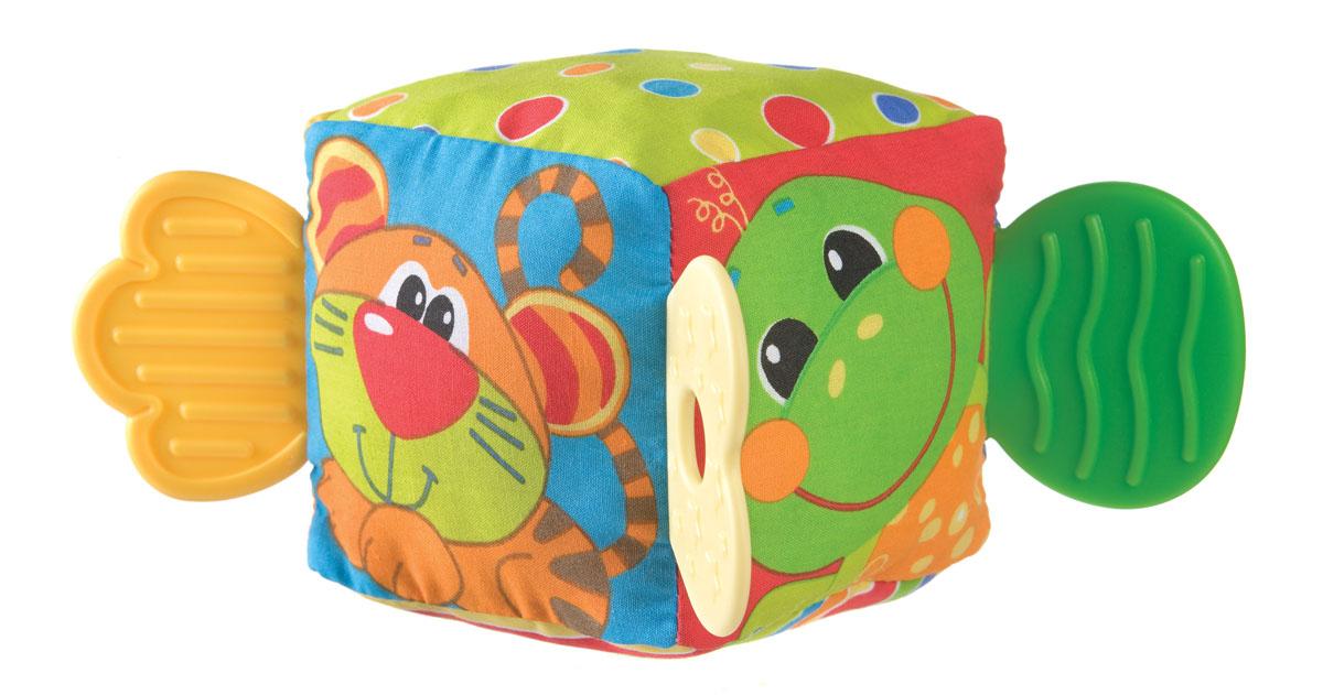 Playgro Игрушка Кубик0180170Кубик-прорезыватель идеален в период прорезывания зубок, в который малыш особенно беспокоен. Внутри кубика находится погремушка, которая обязательно заинтересует его. Разные по фактуре материалы тренируют мелкую моторику.