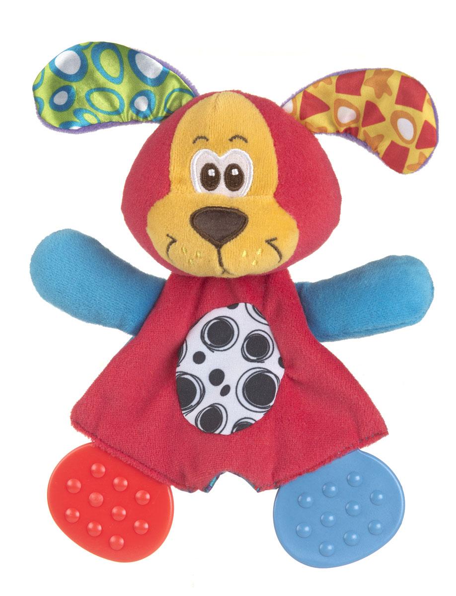 Playgro Развивающая игрушка Щенок0183155Мягкая и приятная на ощупь игрушка-салфетка из ярких тканей разной фактуры. Ножки игрушки представляют собой 2 рельефных прорезывателя, они отлично подходят период прорезывания зубов. Игрушка способствует развитию мелкой моторики, тактильных ощущений и визуального восприятия.