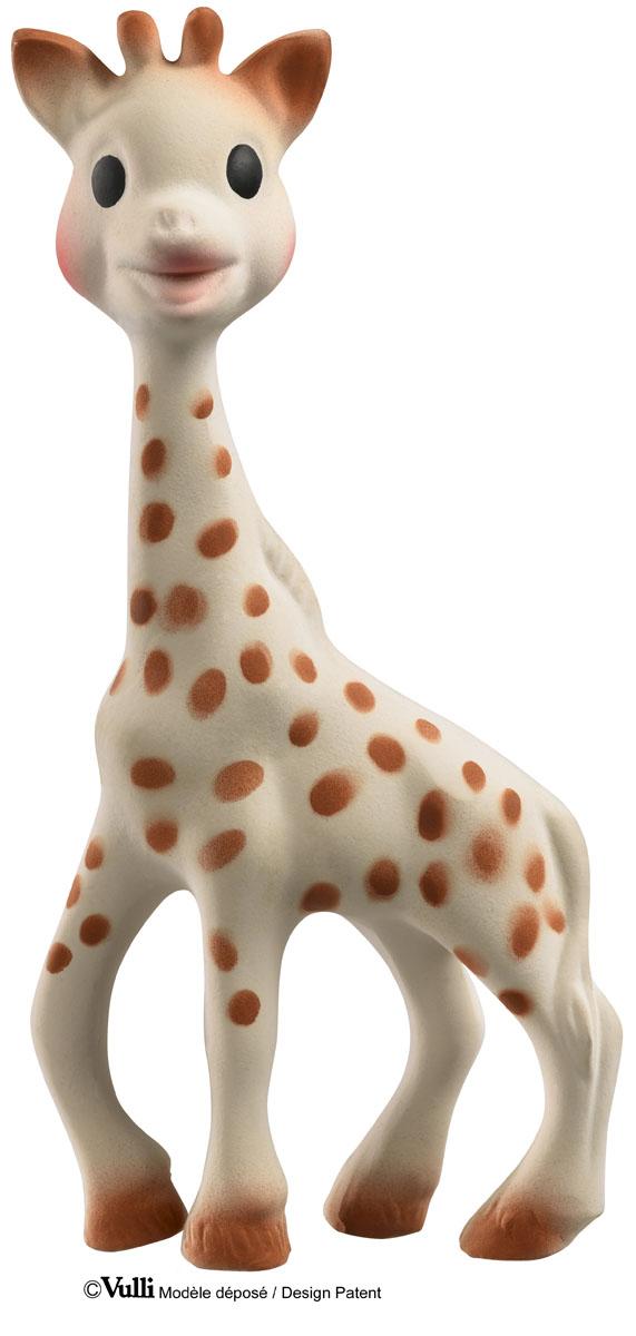 Vulli Игрушка-прорезыватель Жирафик Софи с салфеткой516328Великолепный подарок на рождение малыша! В набор входит: жирафик Софи, салфетка. Жирафик Софи – уникальная развивающая игрушка-прорезыватель, стимулирует 5 органов чувств ребенка. Более 50 лет назад Жирафик Софи была создана во французской провинции Румилли Седекс, где производится до сих пор вручную. По развивающим характеристикам игрушка не имеет аналогов. Жирафик Софи стала другом более чем 50 миллионам малышей по всему миру! Игрушка развивает осязание, зрение, слух, моторику и обоняние. Благодаря этому все пять чувств вашего ребенка будут развиваться гармонично и вовремя, что позволит малышу в более позднем возрасте легче запоминать информацию, быть более координированным и ловким, грамотнее выражать свои мысли, научится принимать решения. Возраст:0 мес+. Размер упаковки: 23,5 x 6,5 x 2,4 см. Размер салфетки: 19 х 19 см. Размер жирафика: 18 см.