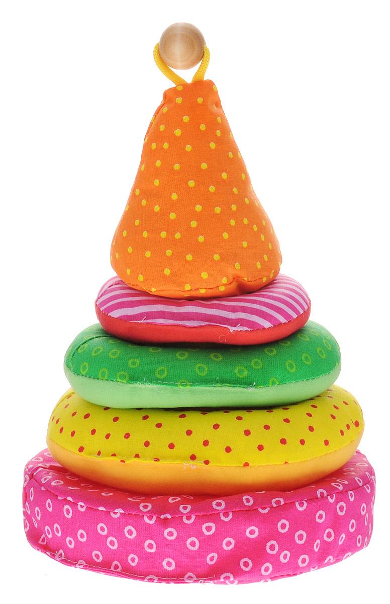 Мякиши Мягкая пирамидка цвет розовый желтый зеленый31_розовый, желтый, салатовый, оранжевыйМягкая пирамидка Мякиши - это уникальная пирамидка, которая отлично подойдет для развития сенсорных способностей и тактильных ощущений. Пирамидка состоит из мягкого основания и мягкой оси с нанизанными на нее тремя мягкими разноцветными колечками. Игрушка изготовлена из высококачественных материалов, что делает ее абсолютно безопасной в игре. Удачно подобранные размер и цвет развивают мышление, цветовое восприятие, координацию движений и совершенствуют моторику нежных пальчиков малыша. Внутри игрушки находится гремящая сфера.