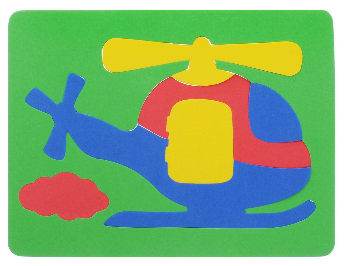 Фантазер Пазл для малышей Вертолет цвет основы зеленый063551В_зеленыйПазл для малышей Фантазер Вертолет обязательно понравится вашему малышу! Элементы пазла выполнены из мягкого, приятного на ощупь и абсолютно безопасного материала, имеют закругленные края. Набор включает в себя 7 разноцветных элементов. Игрушка может использоваться и в ванной - при смачивании водой элементы прилипают к гладким вертикальным поверхностям. Пазл для малышей Фантазер Вертолет поможет малышу развить цветовое восприятие, мелкую моторику рук, тактильные ощущения и координацию движений. При игре с пазлом улучшается визуально-сенсорное развитие и творческое мышление.