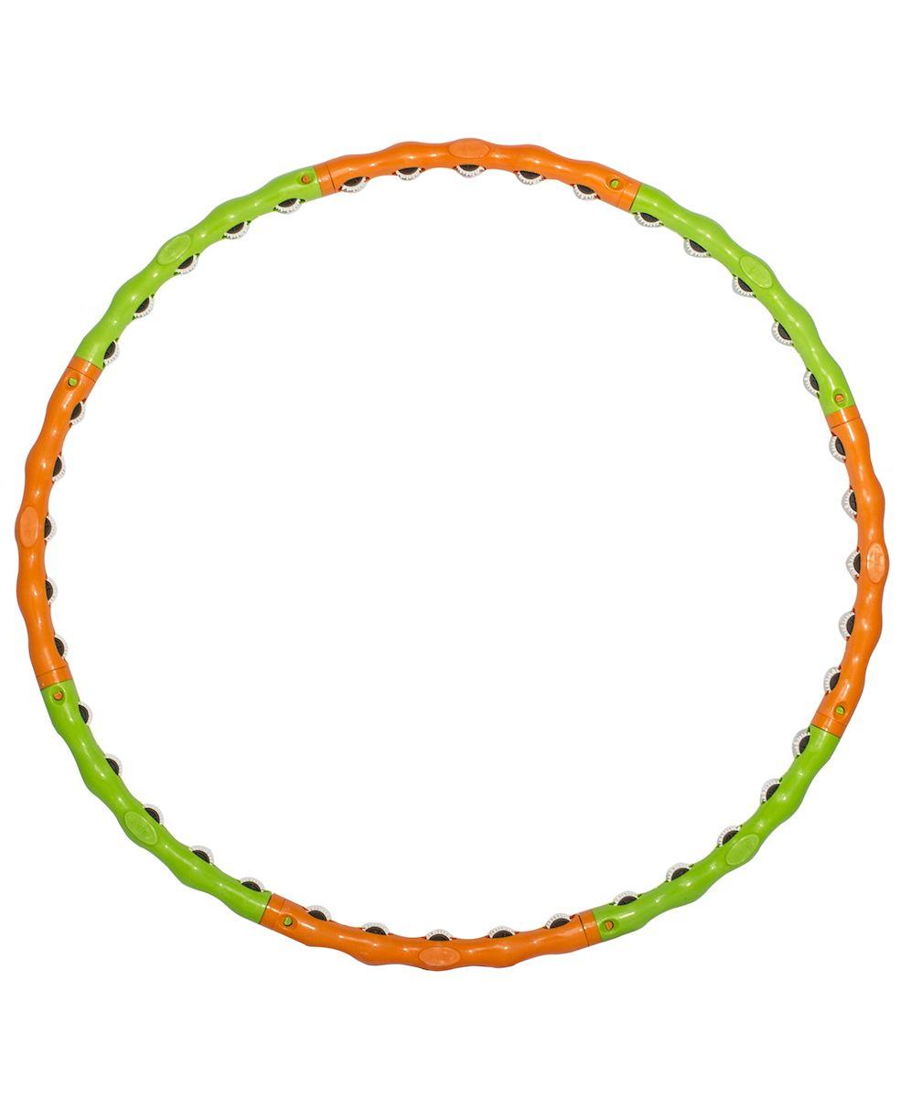 Обруч массажный Starfit, разборный, цвет: зеленый, оранжевый, диаметр 98 смУТ-00008294Star Fit - это массажный разборный обруч от популярного австралийского бренда. Обруч легко собирается и разбирается. Диаметр регулируется, благодаря чему обруч подходит взрослым и детям. Упражнения с этим обручем сжигают больше калорий, чем с обычным. Улучшается кровообращение, усиливается мышечный тонус, что приводит к более активному сжиганию жира. Массажный обруч развивает координацию движений, гибкость, силу, чувство ритма, артистичность, укрепляет вестибулярный аппарат. Сжигает подкожный жир в проблемных участках тела, улучшает состояние кожи в области талии, живота и бёдер. Нормализует работу кишечника. Тренирует и развивает мышцы рук, плеч, спины и ног. С помощью обруча можно выполнять большое количество упражнений из гимнастики, и упражнений на растяжку. Массажный обруч удобен и прост в использовании. Не требует особых знаний и места для занятий. Достаточно вращать обруч 10-20 минут в день и таким образом фигура изменится в положительную сторону.