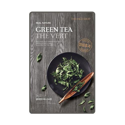 The Face Shop Real Nature Тканевая маска для лица с экстрактом зеленого чая, 20 гУТ000001783Увлажняющая тканевая маска Real Nature Mask Sheet Green Tea имеет в основе экстракт зеленого чая , насыщает кожу влагой, питает, предотвращает отечность и возникновение воспалительных процессов. Экстракт зеленого чая стимулирует кровообращение, укрепляет стенки капилляров кожи, повышает её собственные защитные качества, снабжая клетки кислородом. Увлажнение и питание, которое обеспечивают активные вещества маски, способствуют стимуляции процессов восстановления кожи.