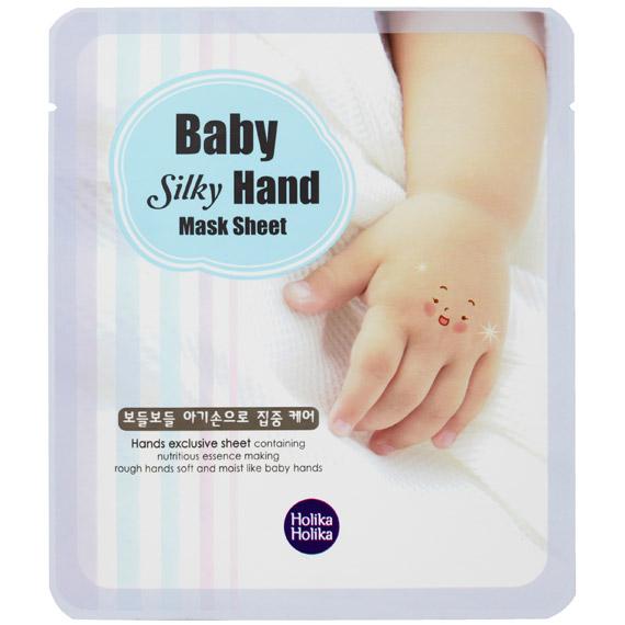 Holika Holika Baby Silky Смягчающая маска для рук, 15х2 мл163Одноразовая тканевая маска для рук питает кожу и делает ее гладкой.