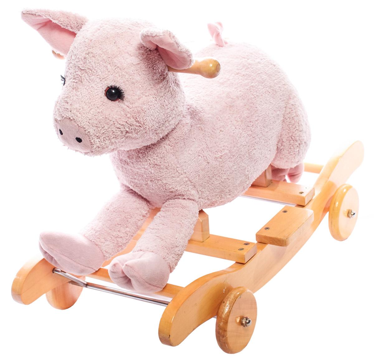 Toyland Качалка ПоросенокТТ00610W-181Оригинальный дизайн в виде лошадки не оставит равнодушным вашего малыша. А продуманная конструкция и безопасные материалы сделают игру незабываемой.