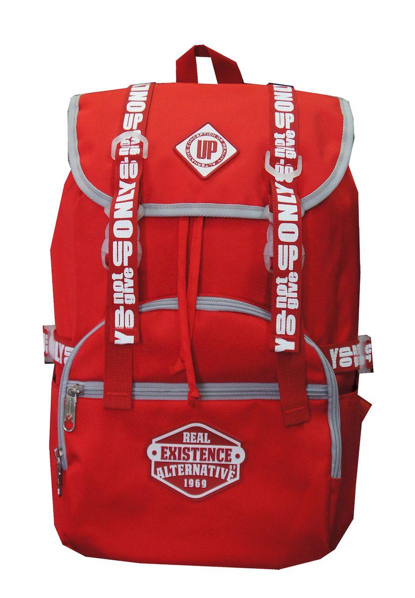 Рюкзак дизайнерский UFO people, цвет: красный. 25 л. 09-309-3Отделение для ноутбука. Уплотненное дно.