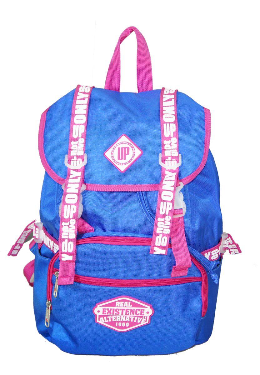 Рюкзак дизайнерский UFO people, цвет: синий. 25 л. 09-609-6Отделение для ноутбука. Уплотненное дно.