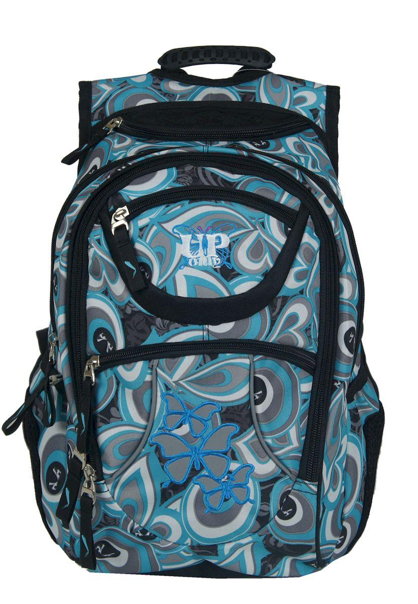 Рюкзак женский UFO people, цвет: голубой. 15 л. 1335613356Мягкие эргономичные вставки на спинке. Уплотненное дно Фронтальные светоотражающие элементы