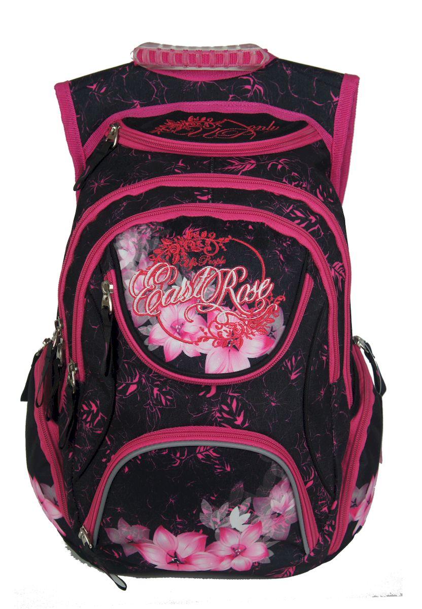 Рюкзак женский UFO people, цвет: черно-розовый. 15 л. 1335813358Мягкие эргономичные вставки на спинке. Уплотненное дно Фронтальные светоотражающие элементы