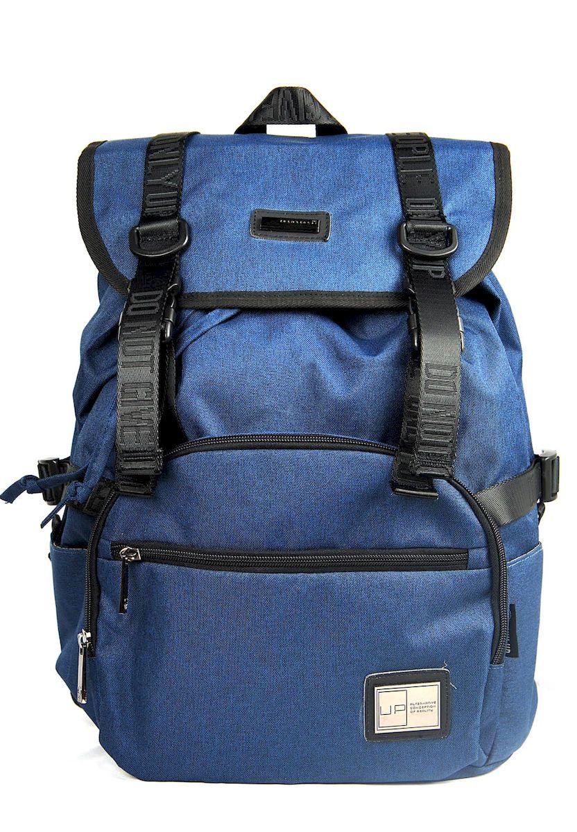 Рюкзак дизайнерский UFO people, цвет: синий. 23 л. 53765376Отделение для ноутбука. Уплотненное дно.