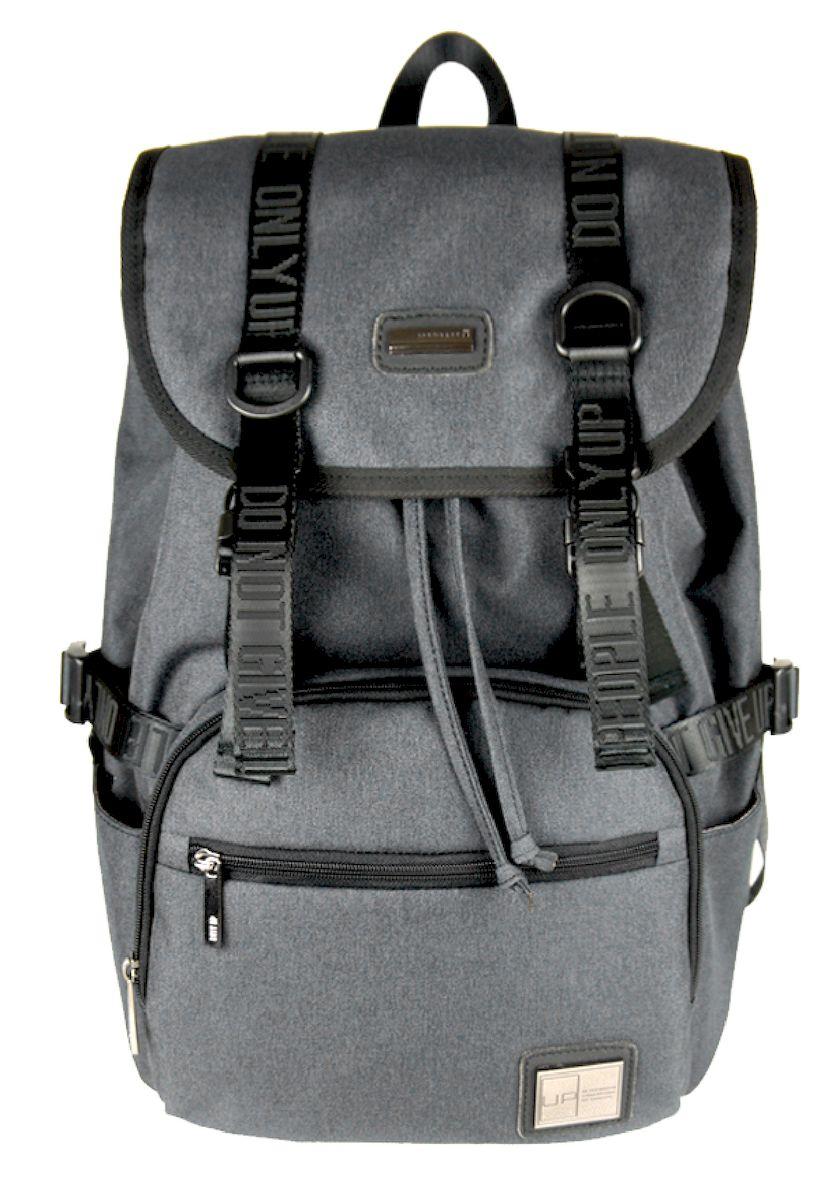 Рюкзак дизайнерский UFO people, цвет: светло-серый. 23 л. 53775377Отделение для ноутбука. Уплотненное дно.