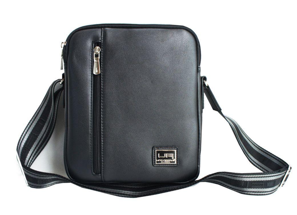Сумка мужская UFO people, цвет: черный, 3 л. 58055805Мужская деловая сумка из нейлона в комбинации с ЭКО-кожей. Основное вместительное отделение, карман-органайзер, задний карман для документов. Наплечный ремень.