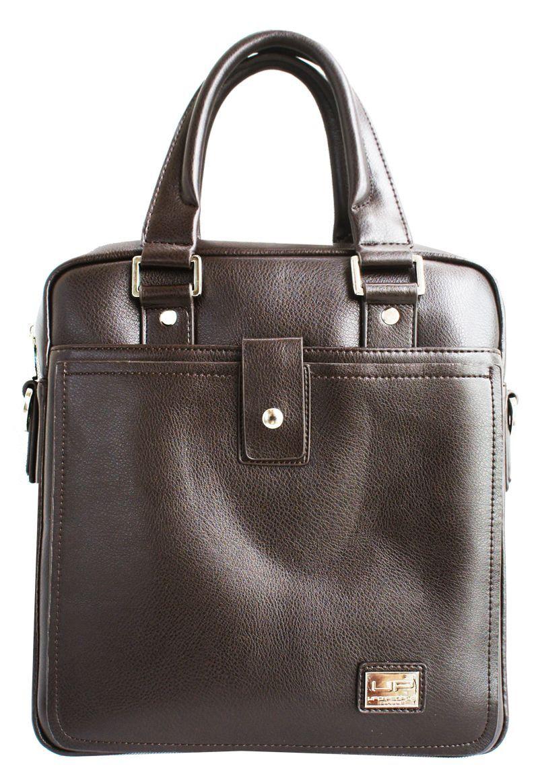 Сумка мужская UFO people, цвет: коричневый, 5,8 л. 58095809Мужская деловая сумка. Основное вместительное отделение, карман-органайзер, задний карман для документов. Наплечный ремень.