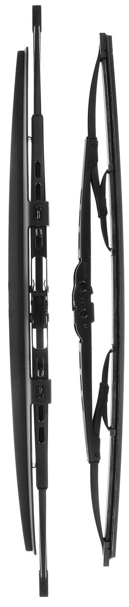 Щетка стеклоочистителя Bosch 533S, каркасная, со спойлером, длина 47,5/53 см, 2 шт3397118406Комплект Bosch 533S состоит из двух щеток разной длины, выполненных по современной технологии из высококачественных материалов. Они обеспечивает идеальную очистку стекла в любую погоду. TWIN Spoiler - серия классических каркасных щеток со спойлером от компании Bosch. Эти щетки имеют полностью металлический каркас с двойной защитой от коррозии и сверхточный профиль резинового элемента с двумя чистящими кромками. Спойлер выполнен в виде крыла, который закрывает каркас щетки от воздушного потока. Комплектация: 2 шт. Длина щеток: 47,5 см; 53 см.