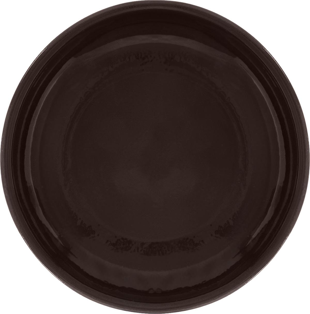 Тарелка Борисовская керамика Старина, цвет: темно-коричневый, диаметр 18 смСТР00000455_темно-коричневыйТарелка Борисовская керамика Радуга, изготовленная из глины, имеет изысканный внешний вид. Лаконичный дизайн придется по вкусу и ценителям классики, и тем, кто предпочитает утонченность. Такая тарелка идеально подойдет для сервировки стола, а также для запекания вторых блюд в духовке. Тарелка Борисовская керамика Радуга впишется в любой интерьер современной кухни и станет отличным подарком для вас и ваших близких. Можно использовать в микроволновой печи и духовке. Диаметр (по верхнему краю): 18 см.