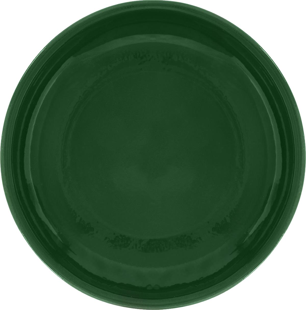 Тарелка Борисовская керамика Радуга, цвет: зеленый, диаметр 18 смРАД00000458_зеленыйТарелка Борисовская керамика Радуга, изготовленная из глины, имеет изысканный внешний вид. Лаконичный дизайн придется по вкусу и ценителям классики, и тем, кто предпочитает утонченность. Такая тарелка идеально подойдет для сервировки стола, а также для запекания вторых блюд в духовке. Тарелка Борисовская керамика Радуга впишется в любой интерьер современной кухни и станет отличным подарком для вас и ваших близких. Можно использовать в микроволновой печи и духовке. Диаметр (по верхнему краю): 18 см.