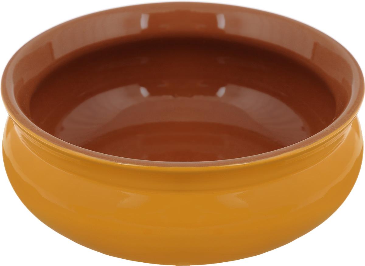 Тарелка глубокая Борисовская керамика Скифская, цвет: горчичный, 500 млРАД14458194_горчичныйГлубокая тарелка Борисовская керамика Скифская выполнена из керамики. Изделие сочетает в себе изысканный дизайн с максимальной функциональностью. Она прекрасно впишется в интерьер вашей кухни и станет достойным дополнением к кухонному инвентарю. Такая тарелка подчеркнет прекрасный вкус хозяйки и станет отличным подарком. Можно использовать в духовке и микроволновой печи. Диаметр тарелки (по верхнему краю): 14 см. Объем: 500 мл.