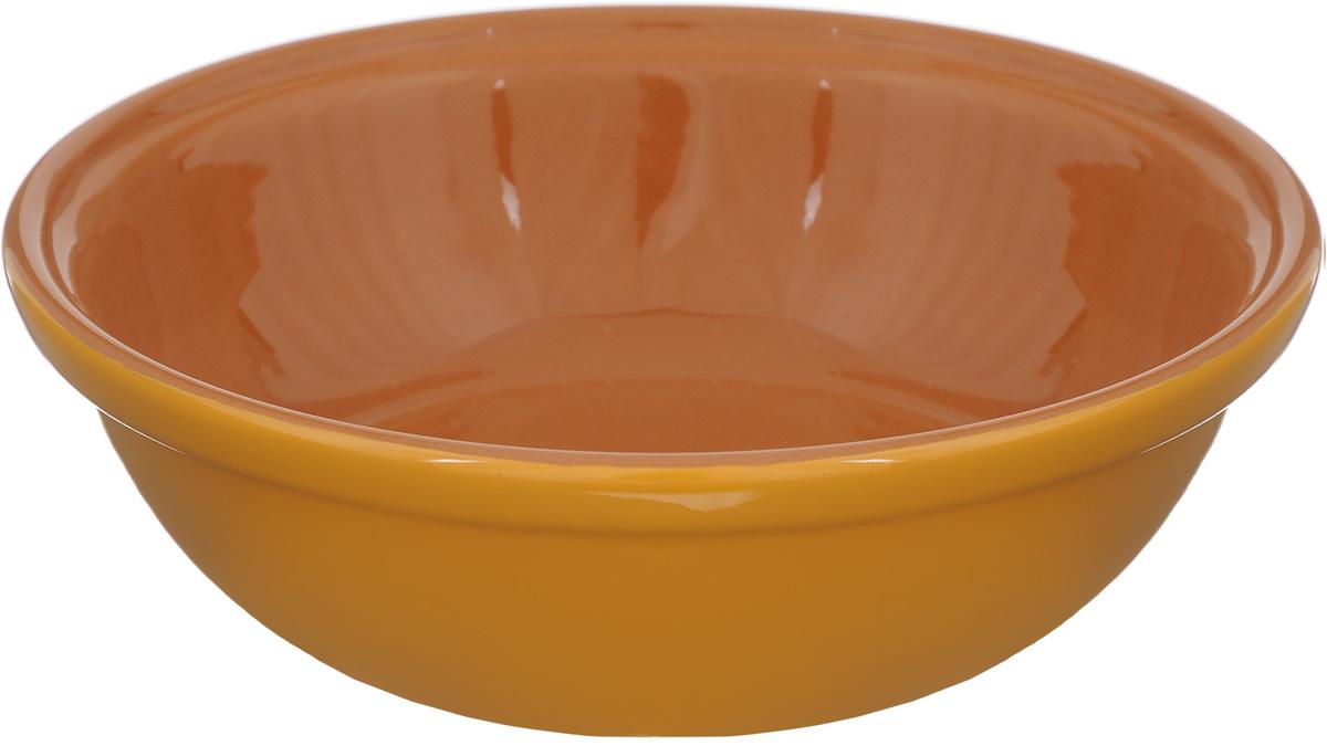 Салатник Борисовская керамика Модерн, цвет: желто-оранжевый, коричневый, 500 млРАД14456945_желто-оранжевый, коричневыйСалатник Борисовская керамика Модерн выполнен из высококачественной керамики. Он придется по вкусу каждому и порадует вас и ваших близких. Салатник Борисовская керамика Модерн идеально подойдет для сервировки стола и станет отличным подарком к любому празднику. Можно использовать в духовке и микроволновой печи. Диаметр (по верхнему краю): 17,5 см. Высота: 5,5 см. Объем: 500 мл.