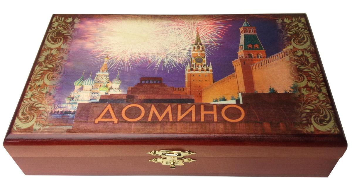 Домино в шкатулке Саванна Салют, 20х12х5 см. d-002d-002Домино в деревянной шкатулке (размер костяшки 50х25 мм). Материал: береза, хвойные сорта