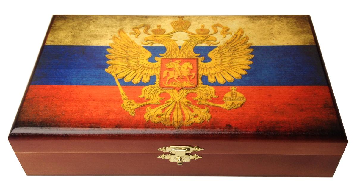 Домино в шкатулке Саванна Российские, 20х12х5 см. d-010d-010Домино в деревянной шкатулке (размер костяшки 50х25 мм). Материал: береза, хвойные сорта