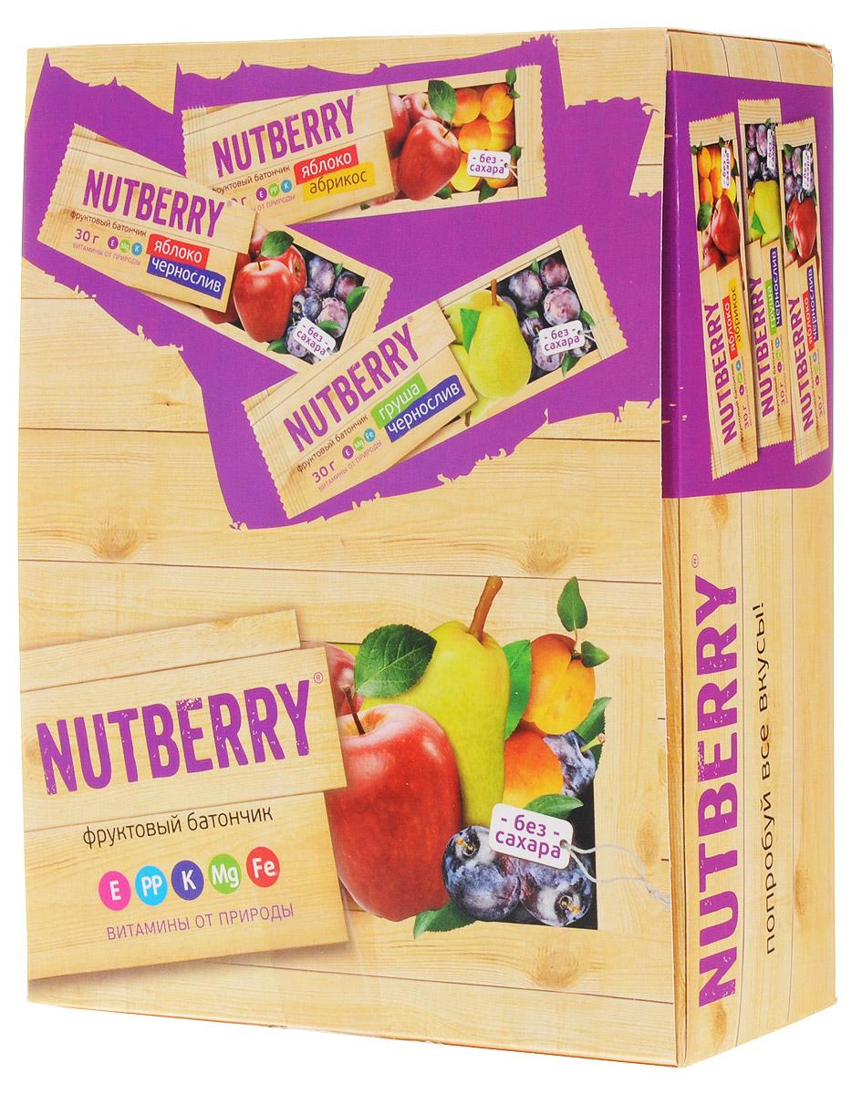 Nutberry Витафрут батончик фруктовый с грушей и черносливом, 30 г (24 шт)4620000678212Фруктовый батончик Nutberry Витафрут Груша с черносливом - полезный и натуральный снек. Сладкая сочная груша и ароматный чернослив вместе дают неповторимый вкус блаженства. С батончиком Nutberry Груша и чернослив вы попадаете в сладкую сказку, где волшебные обволакивающие запахи фруктов так и манят съесть еще один батончик. Фруктовые батончики Nutberry – натурально, вкусно, с заботой о вас. Груша и чернослив справится с голодом в два счета. Любой перекус станет и вкусным и полезным. С утренним кофе, с обеденным чаем, со свежевыжатым соком фруктовый батончик станет незаменимым составляющим вашего рациона. Nutberry изготавливаются только из натуральных спрессованных фруктов и содержат естественные фруктовые сахара! При производстве в продукт не добавляются фруктоза, сахар и другие сахаросодержащие продукты. Эти фруктовые батончики абсолютно безопасны, не содержат ароматизаторов и красителей.