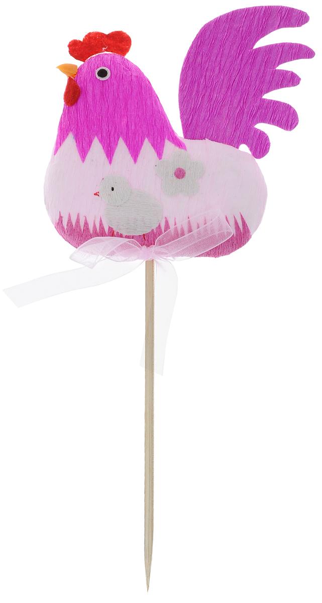 Украшение пасхальное Home Queen Курочка с ромашками, на ножке, цвет: розовый, высота 22 см64409_4Украшение пасхальное Home Queen Курочка с ромашками изготовлено из высококачественного пластика и гофрированной бумаги и предназначено для украшения праздничного стола. Украшение выполнено в виде курочки на деревянной шпажке и декорировано бантом. Такое украшение прекрасно дополнит подарок для друзей и близких на Пасху. Высота: 22 см. Размер фигурки: 8,5 х 1,5 х 10 см.