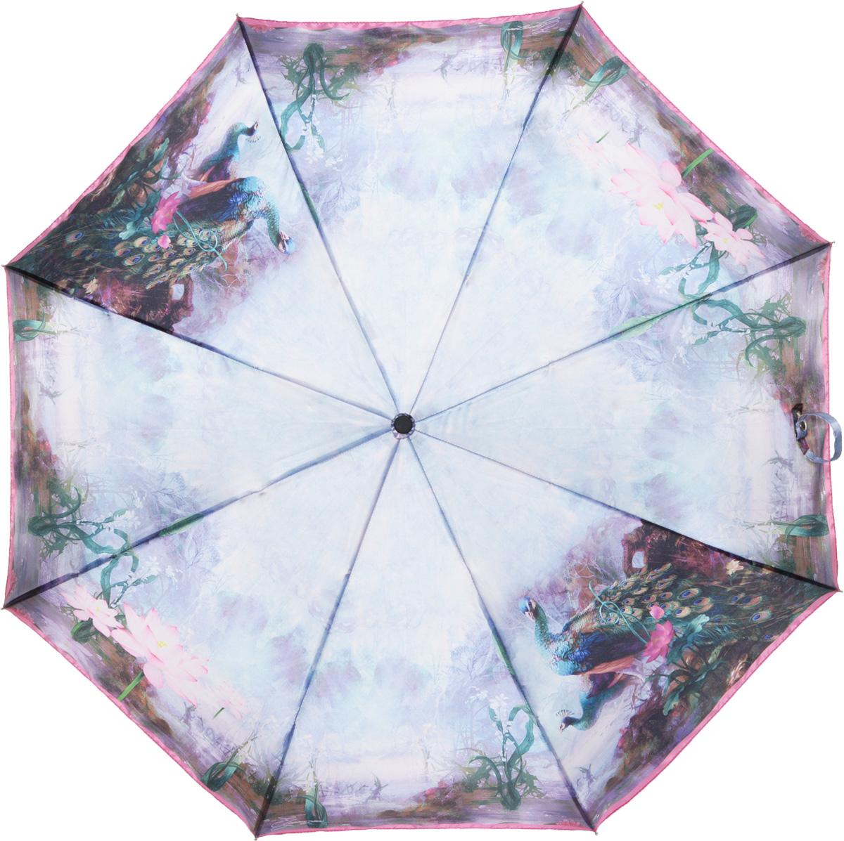 Зонт женский Eleganzza, автомат, 3 сложения, цвет: зеленый. A3-05-0286LSA3-05-0286LSЖенский зонт-автомат торговой марки ELEGANZZA с каркасом Smart, который позволяет без особых усилий складывать зонт, не позволяя стержню вылетать обратно. Купол: 100% полиэстер, сатин. Материал каркаса: сталь + алюминий + фибергласс. Материал ручки: пластик. Длина изделия - 30 см. Диаметр купола - 105 см. Система Smart, не позволяет стержню при сложении вылететь обратно, это облегчает сложение зонта! При сложении есть характерный звук-треск, как трещетка. Примечание: зонт не откроется с кнопки если его не закрыть до щелчка!