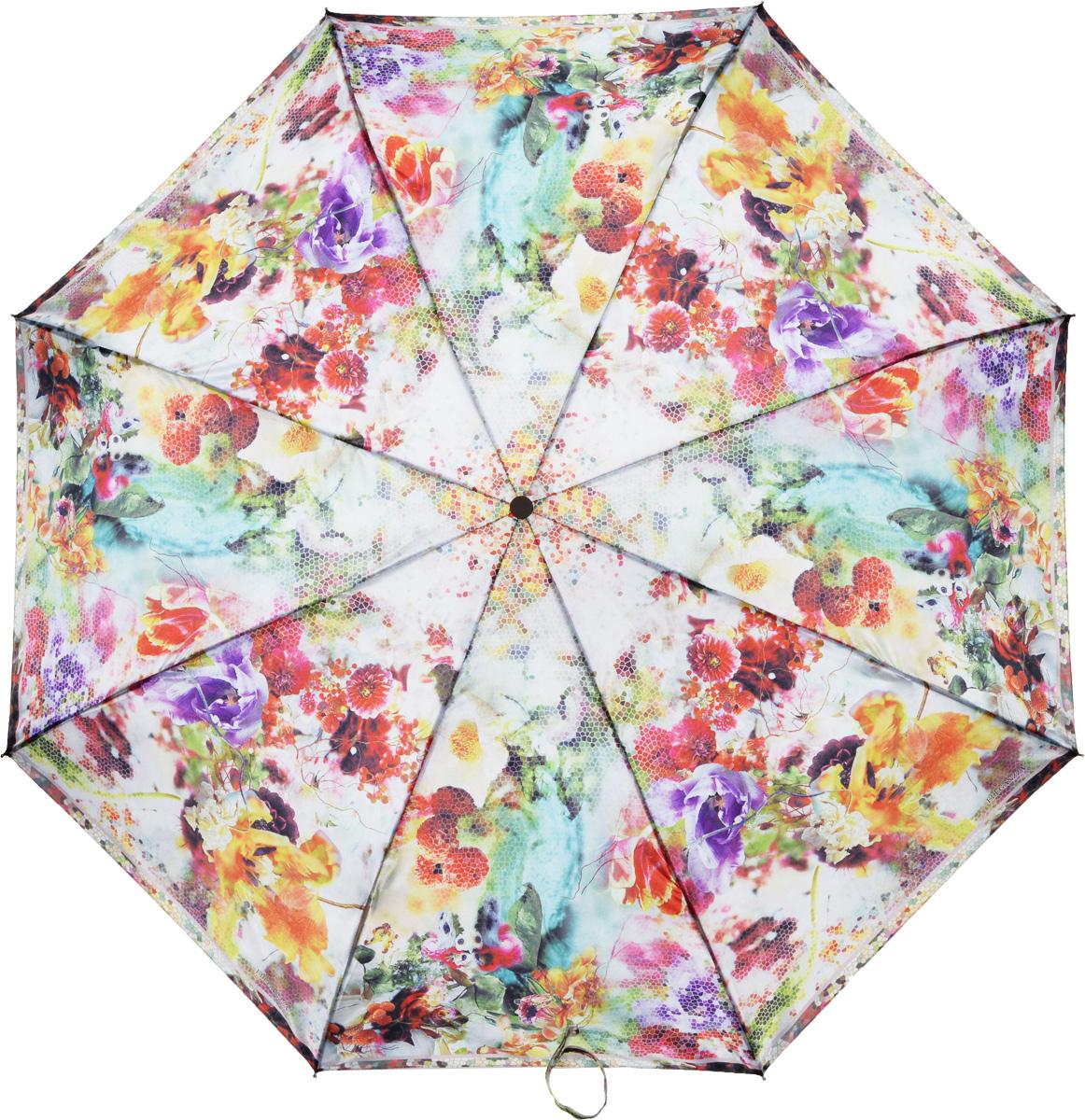 Зонт женский Eleganzza, автомат, 3 сложения, цвет: бежевый. A3-05-0304LSA3-05-0304LSЖенский зонт-автомат торговой марки ELEGANZZA с каркасом Smart, который позволяет без особых усилий складывать зонт, не позволяя стержню вылетать обратно. Купол: 100% полиэстер, сатин. Материал каркаса: сталь + алюминий + фибергласс. Материал ручки: пластик. Длина изделия - 30 см. Диаметр купола - 105 см. Система Smart, не позволяет стержню при сложении вылететь обратно, это облегчает сложение зонта! При сложении есть характерный звук-треск, как трещетка. Примечание: зонт не откроется с кнопки если его не закрыть до щелчка!