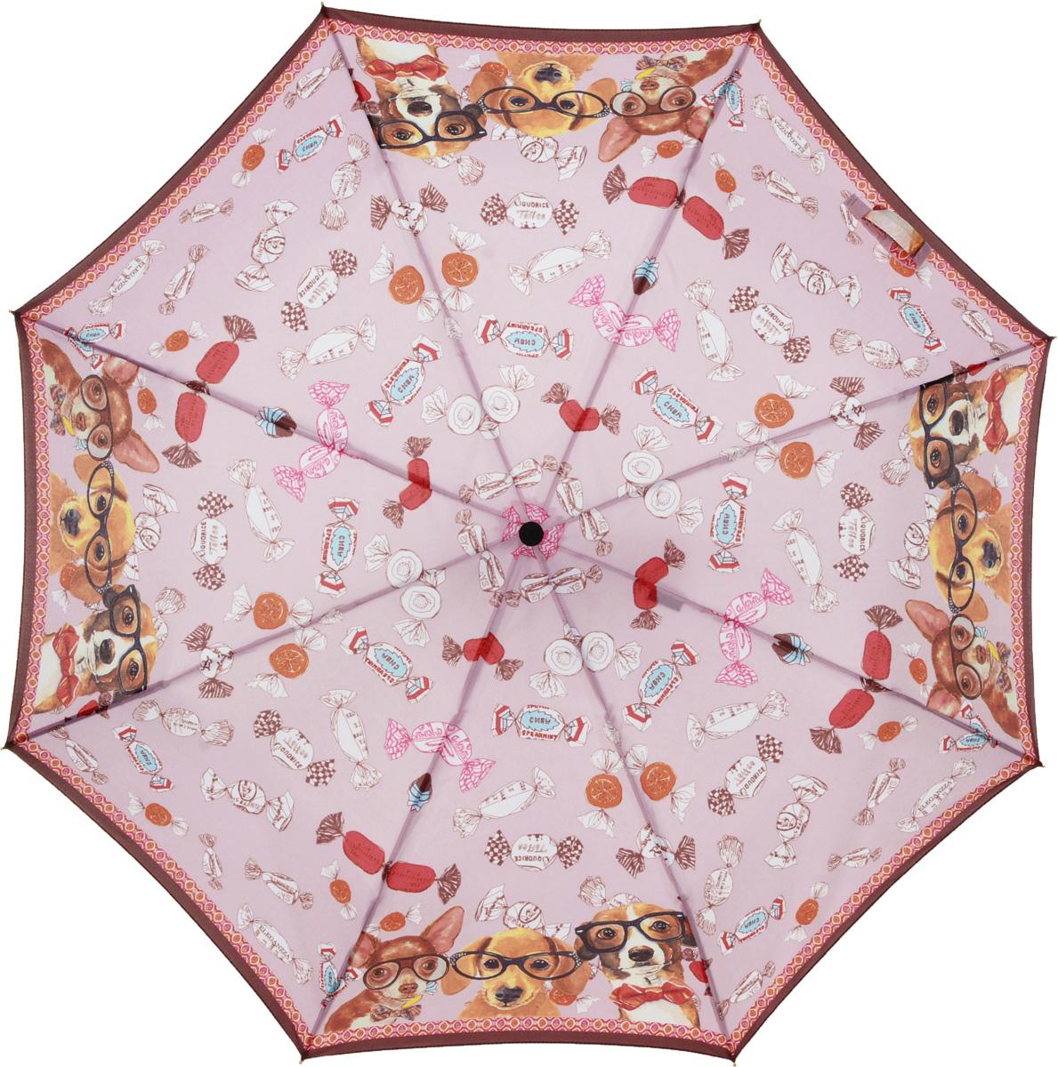 Зонт женский Eleganzza, автомат, 3 сложения, цвет: коричневый. A3-05-0298A3-05-0298Женский зонт-автомат торговой марки ELEGANZZA. Купол: 100% полиэстер, эпонж. Материал каркаса: сталь + алюминий + фибергласс. Материал ручки: пластик. Длина изделия - 27 см. Диаметр купола - 98 см.