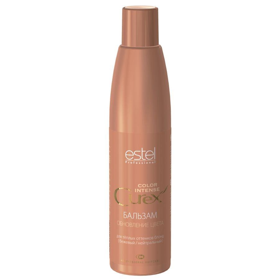 Estel Curex Color Intense Бальзам Обновление цвета для теплых оттенков блонд (бежевый/нейтральный) 250 млCU250/B14Estel Curex Color Intense Бальзам «Обновление цвета» для теплых оттенков блонд (бежевый/нейтральный) придаёт или усиливает бежевые нейтральные оттенки на светлых или осветлённых волосах. Витаминный комплекс обеспечивает активное увлажнение и питание, придаёт волосам эластичность и блеск. В результате ровный красивый оттенок и шелковистые гладкие волосы.