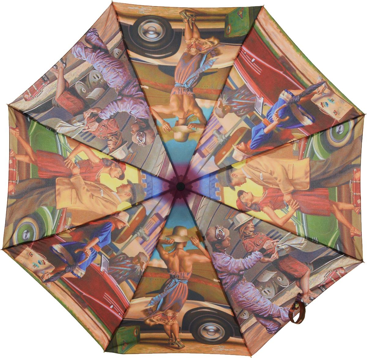 Зонт женский Eleganzza, автомат, 3 сложения, цвет: лиловый. A3-05-0247A3-05-0247Женский зонт-автомат торговой марки ELEGANZZA. Купол: 100% полиэстер, эпонж. Материал каркаса: сталь + алюминий + фибергласс. Материал ручки: пластик. Длина изделия - 27 см. Диаметр купола - 98 см.