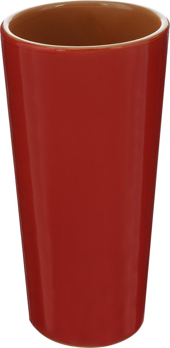 Вазон-стакан Борисовская керамика, цвет: красный, 400 млКРС00000670_красныйВазон-стакан Борисовская керамика изготовлен из высококачественной керамики. Он может быть использован в качестве стакана или вазы. Дизайн изделия подчеркнет оригинальность интерьера и прекрасный вкус хозяина. Диаметр (по верхнему краю): 7,3 см. Диаметр дна: 6 см. Высота: 15,5 см.
