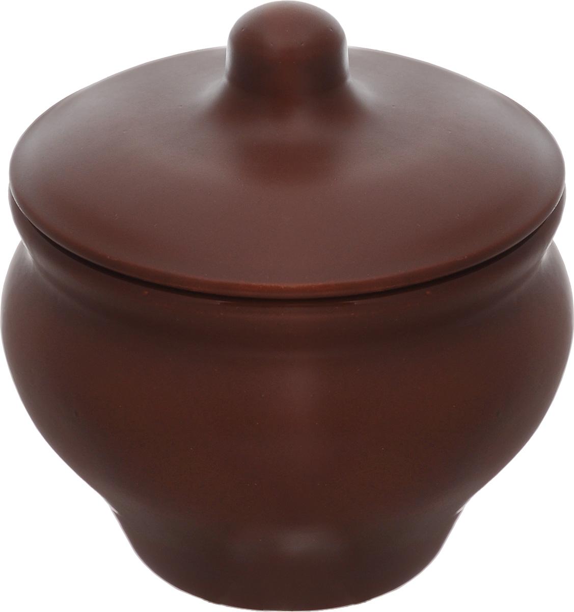 Горшочек для запекания Борисовская керамика Мечта хозяйки, цвет: коричневый, 350 млШЛК14457931_коричневыйЕсли вы любите готовить небольшие блюда, вроде сытных жульенов или отдельно запеченного мяса – горшочек Борисовская керамика Мечта хозяйки именно для вас. Объем изделия позволяет использовать его для приготовления мини-блюд. Но это еще не все - горшочек будет очень удобен для хранения специй и приправ. Он выполнен из высококачественной керамики. В результате вы получаете одновременно посуду для приготовления и емкость для хранения. Горшочек подходит для использования в духовке и микроволновой печи. Диаметр (по верхнему краю): 9,7 см. Высота горшочка (без учета крышки): 8 см.