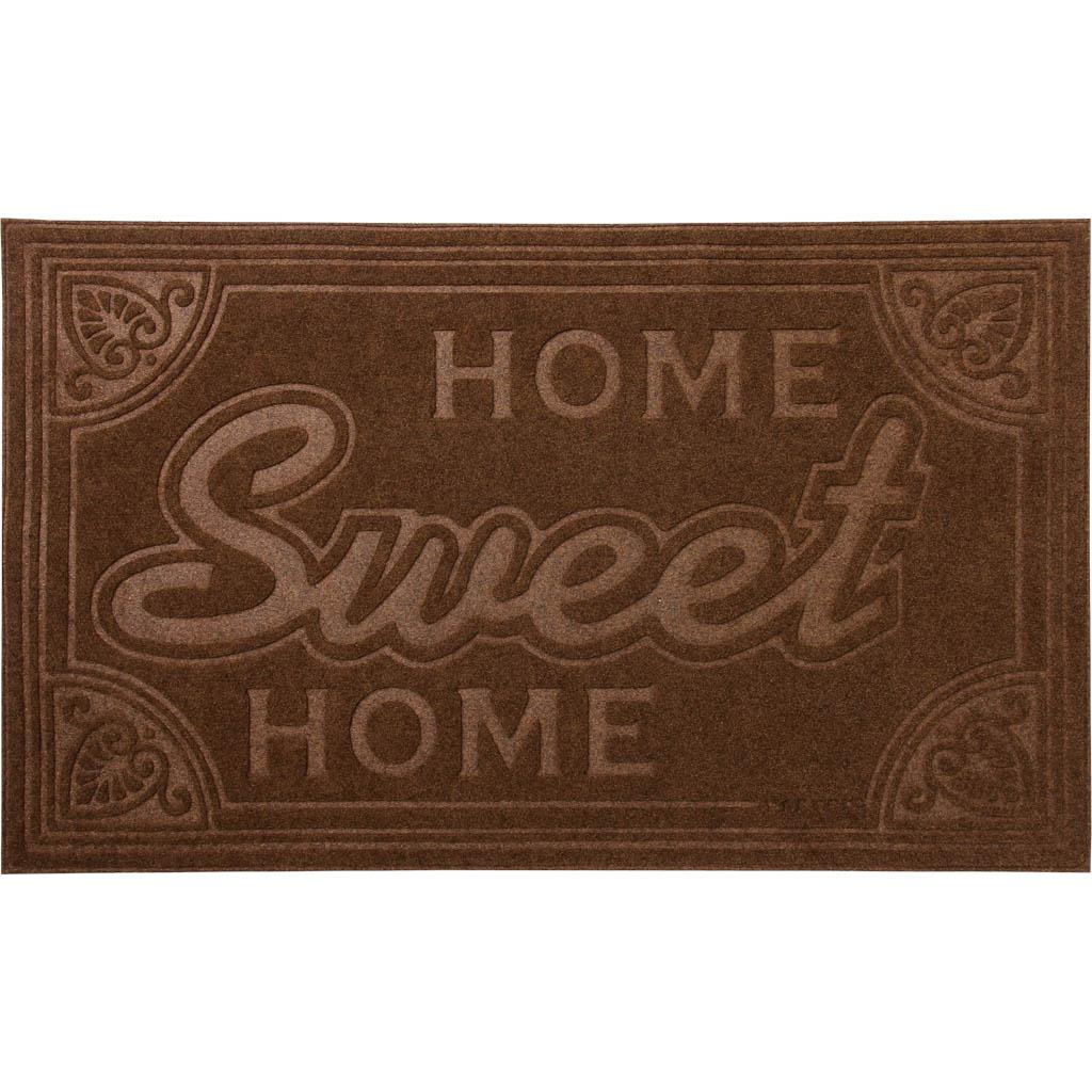 Коврик придверный Vortex Comfort Home Sweet Home, 45х75 см22378Ворс - 100% Полиэстер. Подложка - 100% ПВХ