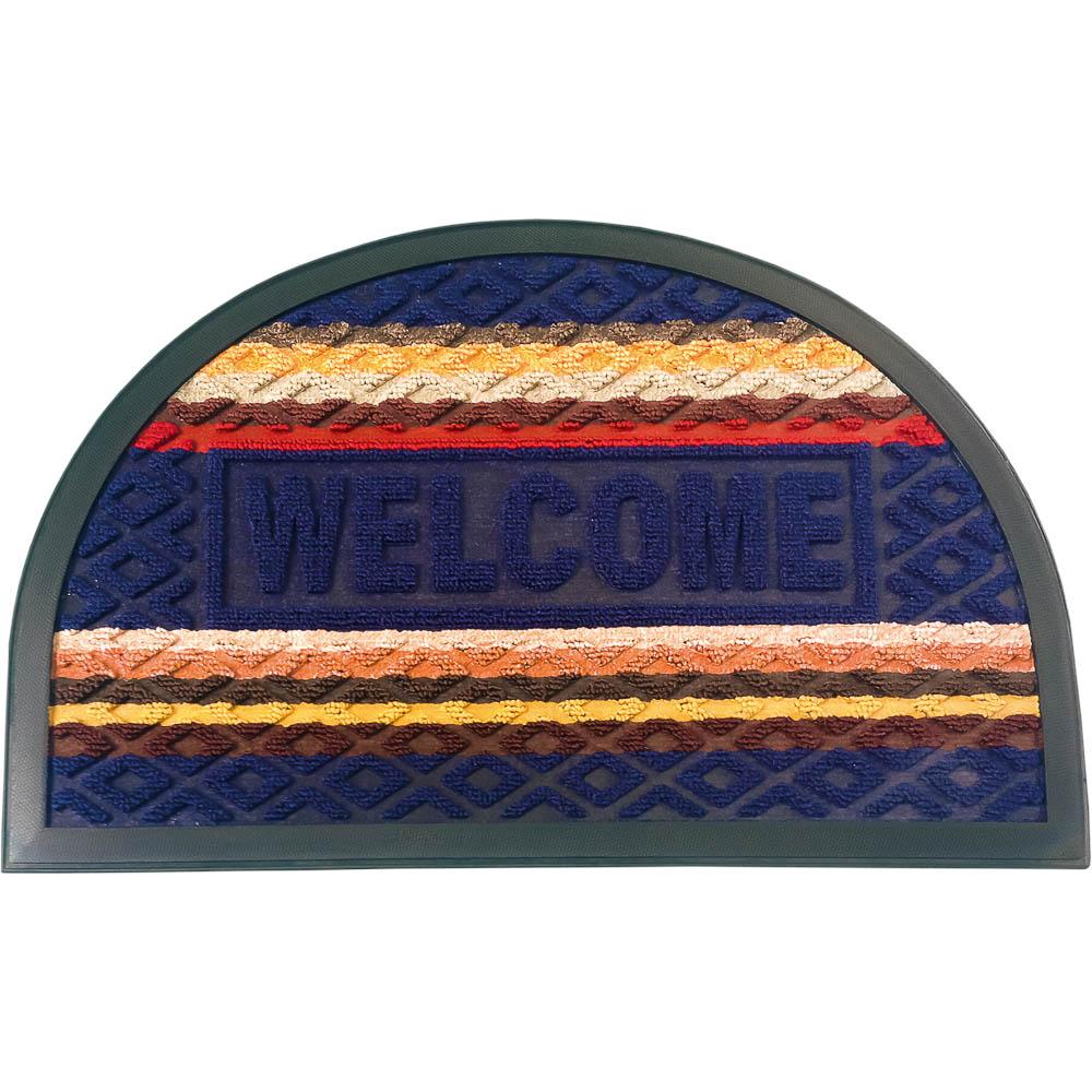 Коврик придверный Vortex Comfort Welcome, 40х60 см, цвет: синий22385Ворс - 100% Полиэстер. Подложка - 100% ПВХ