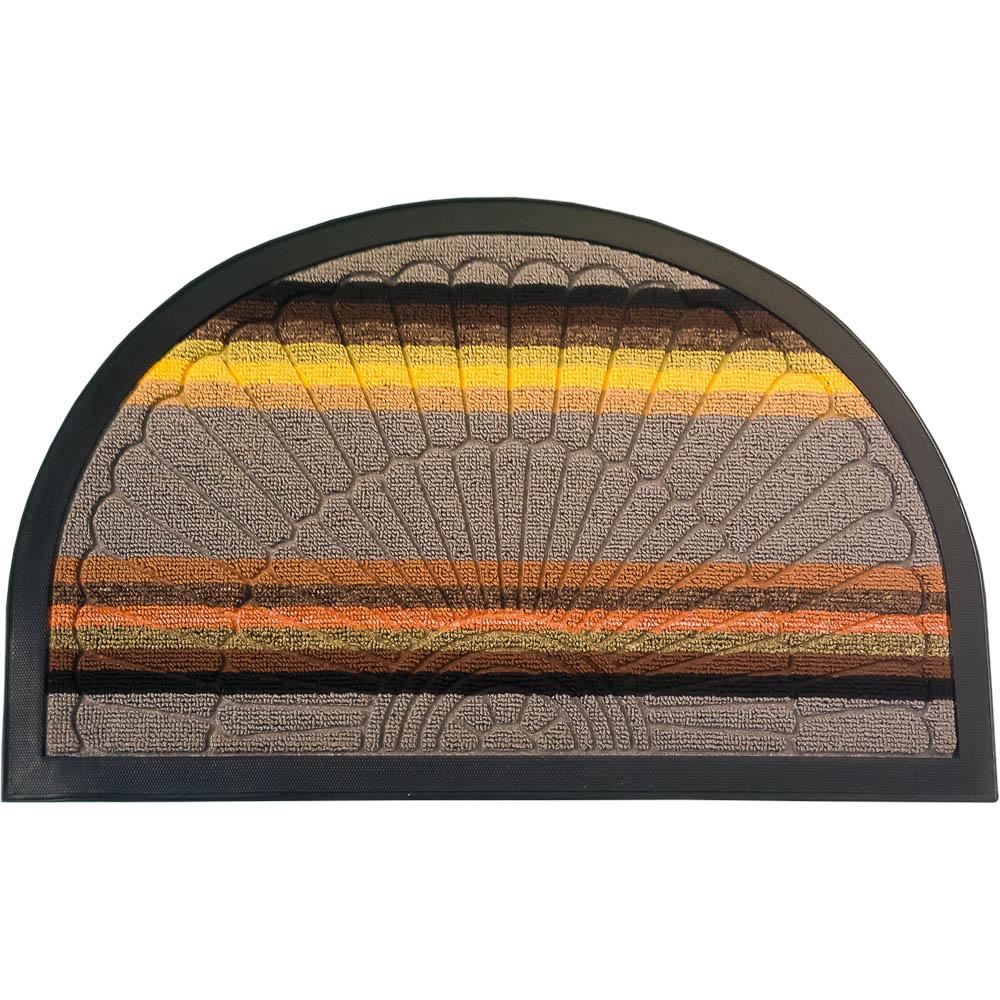 Коврик придверный Vortex Comfort, 45х75 см, цвет: серый22387Ворс - 100% Полиэстер. Подложка - 100% ПВХ