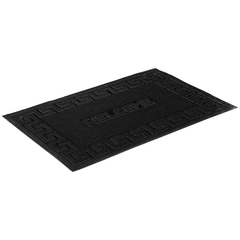 Коврик придверный Vortex Welcome, 40х60 см, цвет: черный22464