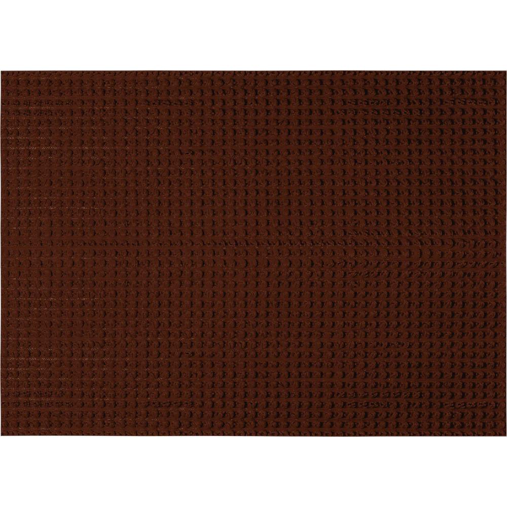 Коврик Травка, на противоскользящей основе, 45х60 см, цвет: темно-коричневый24101