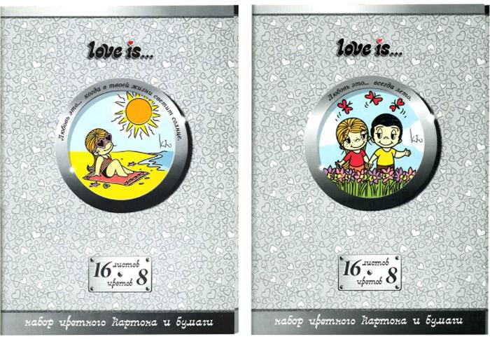 Action! Набор цветного картона и бумаги Love is... 16 листов 2 шт цвет серыйLI-CCP-16/8Набор цветного картона и бумаги Action! Love is... позволит вашему ребенку создавать всевозможные аппликации и поделки. Набор содержит 8 листов цветного картона и 8 листов цветной бумаги формата А4. Листы упакованы в оригинальную картонную папку, оформленную в тематике Love is.... Создание поделок из картона поможет ребенку в развитии творческих способностей, кроме того, это увлекательный досуг. В комплекте 2 набора по 16 листов. Уважаемые клиенты! Обращаем ваше внимание на возможные изменения в дизайне, связанные с ассортиментом продукции: дизайн может отличаться от представленного на изображении. Поставка осуществляется в зависимости от наличия на складе.