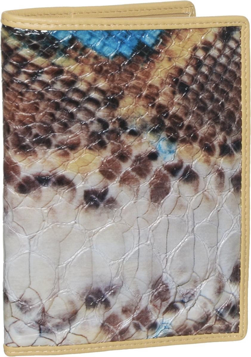 Обложка для паспорта женская Piero, цвет: серый, коричневый. 42М6_90035_30_1402П_5442М6_90035_30_1402П_54Стильная и элегантная обложка для паспорта Piero выполнена из натуральной лаковой кожи с декоративным тиснением под рептилию. Внутри расположены два прозрачных клапана, с помощью которых документ надежно зафиксируется. Обложка не только сохранит внешний вид документов, но и станет стильным аксессуаром, который подчеркнет ваш образ. Изделие упаковано в фирменную коробку с логотипом бренда. Такой функциональный аксессуар станет замечательным подарком человеку, ценящему качественные и модные вещи.