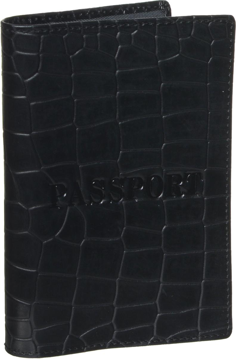 Обложка для паспорта мужская Piero, цвет: черный. 42М6_90111_20_П_142М6_90111_20_П_1Стильная обложка для паспорта Piero выполнена из натуральной кожи с декоративным тиснением под рептилию. Внутри расположены два прозрачных клапана, с помощью которых документ надежно зафиксируется. Обложка не только сохранит внешний вид документов, но и станет стильным аксессуаром, который подчеркнет ваш образ. Изделие упаковано в фирменную коробку с логотипом бренда. Такой функциональный аксессуар станет замечательным подарком человеку, ценящему качественные и практичные вещи.
