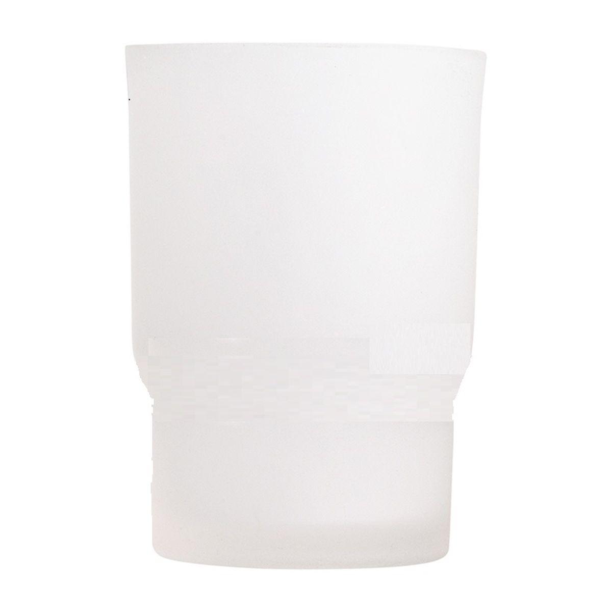 Стакан для ванной комнаты Vanstore Овал, 6,7 х 6,7 х 9,5 см003-20Стакан для ванной комнаты Vanstore Овал изготовлен из высококачественного матового стекла. В стакане удобно хранить зубные щетки, тюбики с зубной пастой и другие принадлежности. Такой аксессуар для ванной комнаты стильно украсит интерьер и добавит в обычную обстановку яркие и модные акценты. Изделие отлично сочетается с другими аксессуарами из коллекции Овал. Может служит дополнительным стаканом для комплекта 003-23.