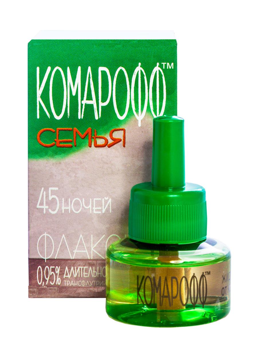 """Жидкость от насекомых Комарофф """"Семья"""", сменный флакон, 45 ночей, 30 мл OF01080121"""
